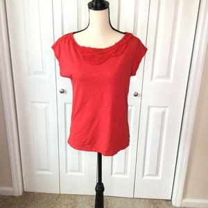 Ann Taylor LOFT Red Cap Sleeve Top size medium